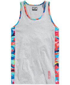 e0da323b6add0 Neff Men s Printed Trim Tank Men - T-Shirts - Macy s