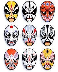 A series of 9 vector traditional chinese opera mask. Chinese Opera Mask, Chinese Mask, Fox M, Japanese Mask, Japon Illustration, Photo Vintage, Art Japonais, Masks Art, African Masks