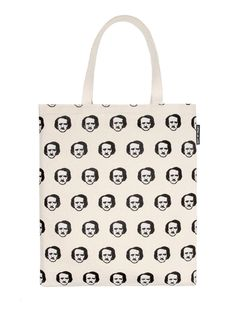 Edgar Allan Poe-ka Dots Tote Bag (Natural),Canvas tote bags with cover art  from your favorite classics and fun literary interpretations. c186710fb5
