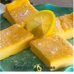 Egg Fast Lemon Bars - So easy to make and sooo delicious! They remind me of cheesecake. They're are a wonderful change of pace during and egg fast and I'd make them even if I wasn't doing a fast. Eggfast Recipes, Waffle Recipes, Low Carb Recipes, Cleanse Recipes, Lunch Recipes, Quark Recipes, Protein Recipes, Drink Recipes, Chicken Recipes