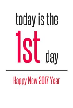 1st day happy new year 2017