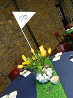 Centerpiece for golf graduation party