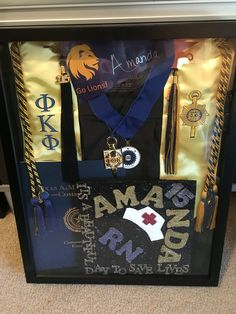 Nursing school graduation shadow box