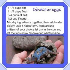 Dinasaur eggs... Fun