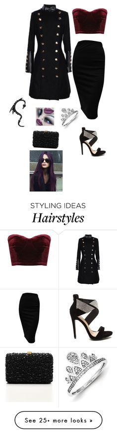"""Velvet."" by princesaurbana on Polyvore featuring Elie Saab and Kevin Jewelers"