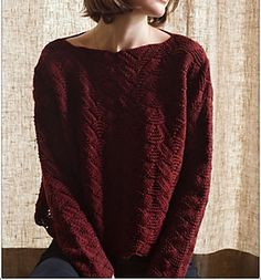 Knit this Worsted 10 ply oversized sweater ~ available in small, med, large sizing.  FREE pattern download via Ravelry ~ Harvest Sunset by Feza Yarn