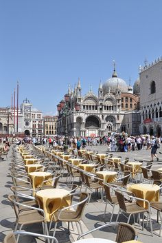 Piazza San Marco, Venice, Italy on a crowded summer afternoon