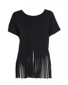 Black fringe top, Debenhams