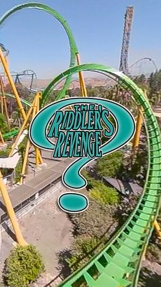 Riddler s Revenge roller coaster at Six Flags Magic Mountain Scary Roller Coasters, Roller Coaster Ride, Amusement Park Rides, Abandoned Amusement Parks, Abandoned Cities, Abandoned Mansions, Places To Travel, Places To Visit, Orange Beach Alabama
