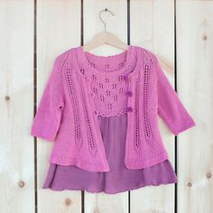 Clothing set for girl Rose. Dress and cardigan. by LYMIclothes