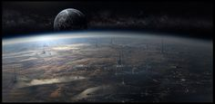 ArtStation - Sci Fi Matte Paining 091917  by Scott Richard...