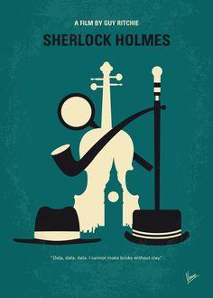 No555 My Sherlock Holmes minimal movie poster Art Print