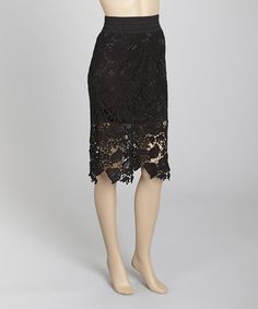 Love this Black Lace Jungle Skirt by Carrie Allen on #zulily! #zulilyfinds