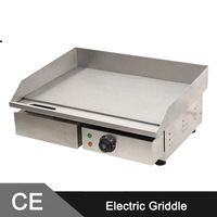 3KW 55CM Electric Griddle Grill Hot Plate Stainless Steel Commercial BBQ