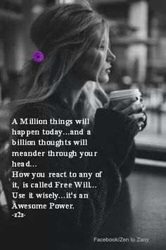 A million things..... A billion thoughts...    Zen to Zany (facebook)