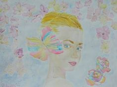 "Saatchi Art Artist Theodora Papoulidoy; Painting, ""Portrait of blonde woman"" #art"
