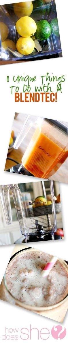 11 Unique things to do with a Blendtec  - I had no idea!! #blendtec #recipes