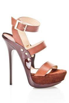 Jimmy Choo Halley Sandals In Brown