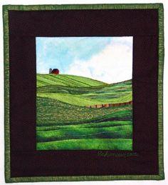 Barn, from Farms & Fields, an  Accidental landscapes  pattern by Karen Eckmeier