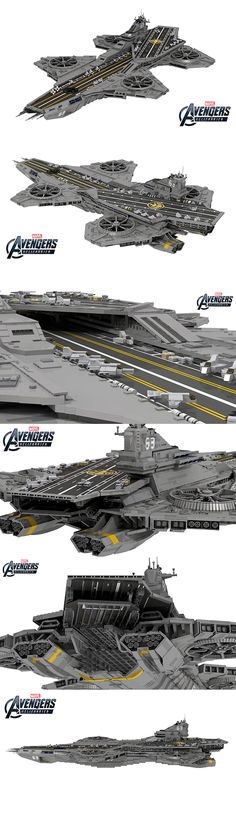 The helicarrier from The Avengers is made to be built from LEGO bricks, and LEGO Ideas (formerly Cuusoo) user ysomt came up with a design that uses 22,694 of them. Isn't it a thing of beauty? He reviewed stills from the film and did his best to make the helicarrier screen accurate and get the proportions just right. It measures 85.4 by 45.3 inches so you'd need to clear a big space to build and display it.