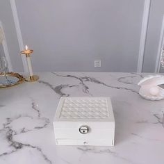 Jewelry Box With Lock, Layered Jewelry, Velvet Pillows, Leather Cover, Jewelry Organization, Leather Jewelry, Floating Nightstand, Layers, Mirror