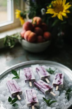 Maple Mint and Blueberry Coconut Cream Popsicles - A Daily SomethingA Daily Something