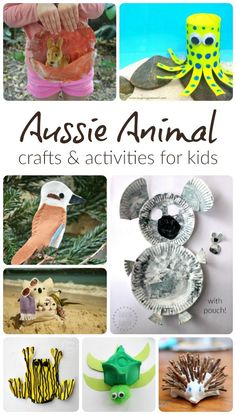 Aussie animal crafts and activities - fun, hands-on way for kids to learn about Australia and our Australian wildlife