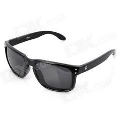 OREKA UV400 Protection Fashion Grey Resin Lens Polarized Sunglasses - Black
