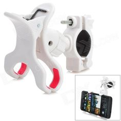 SPO-10 Outdoor Cycling 360 Degree Rotary Bike Cellphone Holder - White Price: $8.23