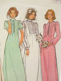 Butterick 4035 Vintage Wedding or Bridesmaid Dress by EmSewCrazy