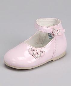 Take a look at this Pink Patent Heart Mary Jane by Angels New York on #zulily today!