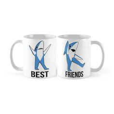 Be the Left Shark to your best friend's Right Shark with this pair of mugs.