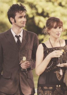 Tenth Doctor (David Tennant) and Donna (Catherine Tate) Doctor Who Series 4, Doctor Who 10, 10th Doctor, Twelfth Doctor, Geronimo, Catherine Tate, Donna Noble, Don't Blink, Favim