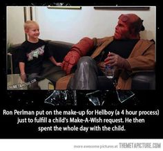 Good guy Hellboy…