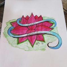 Dibujo flor de loto