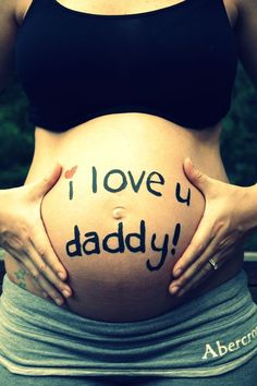 Pregnant Belly, Pregnant Belly Painting Ideas, Belly Pictures, Pregnant Belly Painting Inspiration, Pregnancy, Maternity, Pregnant Belly Huge, Pregnancy Quote, I love You Daddy, Maternity Photography