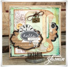 Studio Yasmin - Masculine card made with Maya Road embellishements and 7dots Studio papers :)