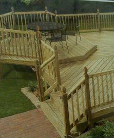 Backyard awesome deck