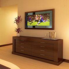 Mirror TV- want one :) Mirror Tv, Hidden Tv, Mai, House Ideas, Decor Ideas, Future, Home Decor, Future Tense, Decoration Home