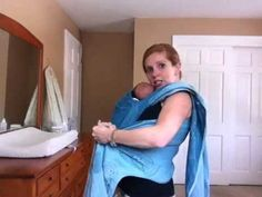 Kangaroo Carry with a Newborn in a Woven Wrap