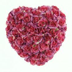 "7"" ROSE HEART W/HANGER MAUVE"