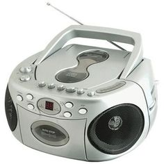 SYLVANIA SRCD286-SILVER Portable CD Radio Boom Box