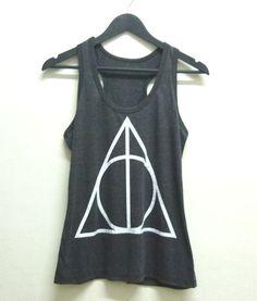 5d02e88477c40 Tank tops S M L XL XXL Deathly Hallows tank top Harry Potter shirt WOMEN  TEEN  Unbranded
