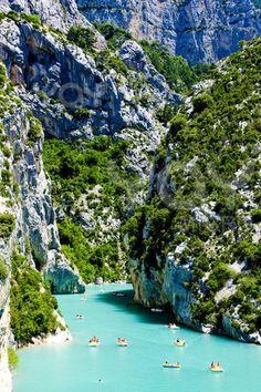 tubing at St Croix Lake, Les Gorges du Verdon, Provence, France