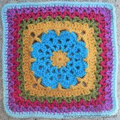 More Vs Please Crochet Square Photo Tutorial