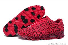 Air Max 90 Nike Running Shoes Leopard Patter Peach Red, I'll wear them for me and my lover! Jordan Shoes, Air Jordan, Nike Shoes Cheap, Nike Free Shoes, Running Shoes Nike, Cheap Nike, Nike Air Max 2012, Air Max 90, Red And Black Shoes