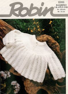 b04e2ec64 new design e97bd d52bc vintage baby knitting pattern dk 3 matinee ...