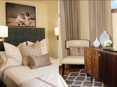 PERFECT mix of mid-century modern bedroom - interiors-designed.com