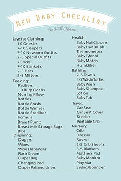 b95718f25 minimal baby checklist. for real. babies don t have to be expensive ...