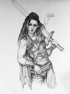 "Elaine Ryan on Twitter: ""Much like my love for #Yasha, this drawing got away from me. #CriticalRole https://t.co/SY7EFWkpKX"""